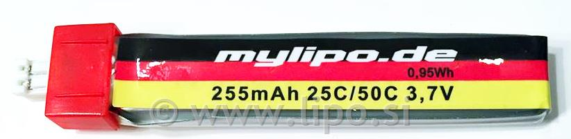 MYLIPO 255MAH 1S 3.7V POWER WHOOP